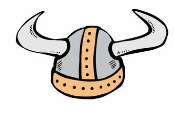 doodle viking helmet