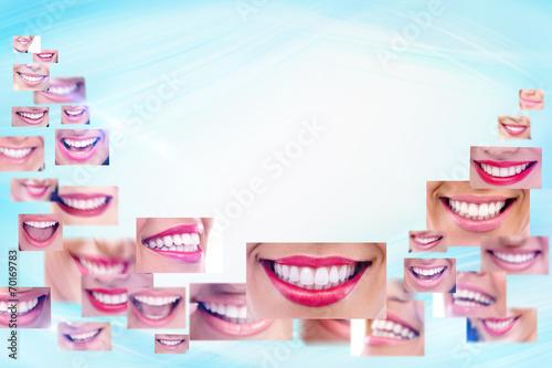 Fototapeta Smile collage