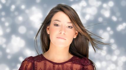 Fashion gorgeous woman portrait