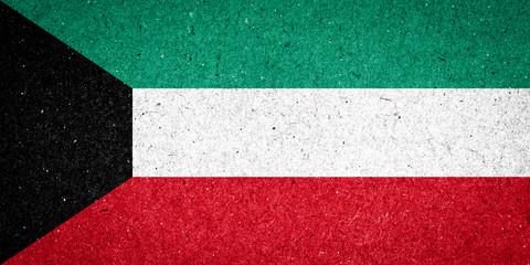 Kuwait flag on paper background