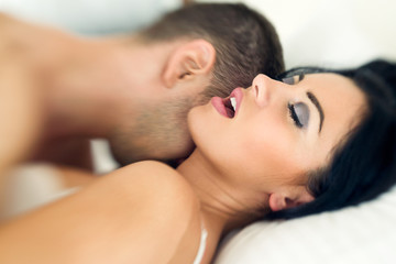 Couple having sexual intercourse