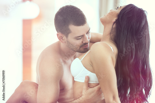 canvas print picture Sexy young couple