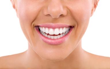 close up of woman teeth