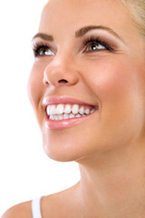 woman with great healthy white teeth