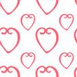Seamless pattern with hearts minimalism
