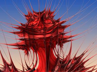 Red Plant Fractal