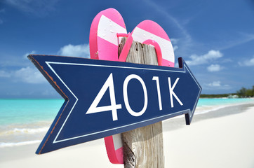 401k arrow on the beach