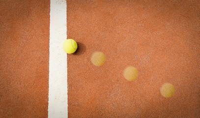 tennis ball trajectory