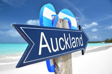 Auckland arrow on the beach