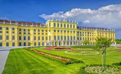 View of Palace and Gardens of Schönbrunn, Vienna, Austria