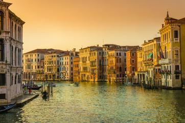 Venetian sunset, Grand Canal, Venice, Italy