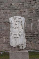 Broken statue of a warrior man in Pergam