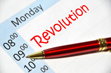 Revolution note in the agenda