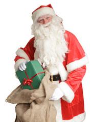 Weihnachtsmann bringt Geschenke