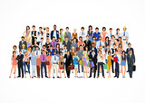 Large group of people poster