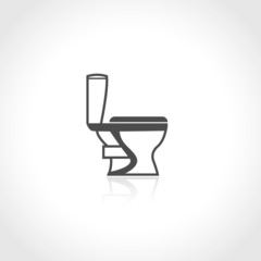 Plumbing icon toilet bowl