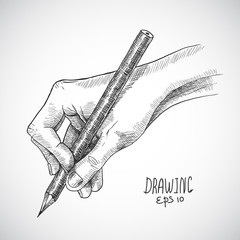 Sketch hand pencil