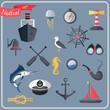 Nautical icons set - 70172591