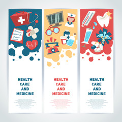 Medical vertical banners