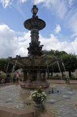fontaine de porcelaine, bronze et granit - Mairie de Limoges