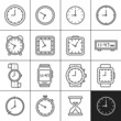 Clock and watch icons - 70173387