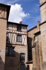 maison à colombage dans les rues de Limoges