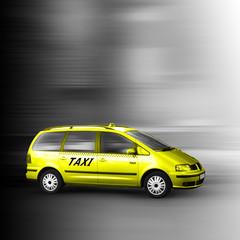 Gelbes Taxi Bus
