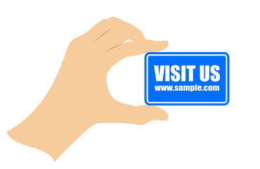 Visit us in internet card