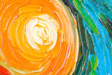 Abstract painting of circles. - 70173708