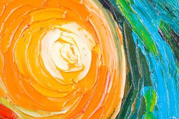 Abstract painting of circles.