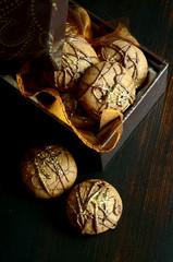 Nougat-Schokoladenplätzchen