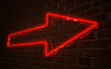 Red arrow neon