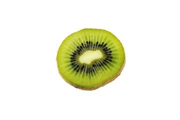 close-up of kiwi isolated over white