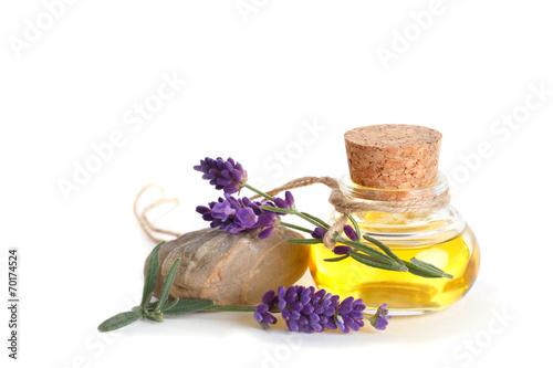 Leinwandbild Motiv Lavendelöl - Ätherisches Öl - Lavendel