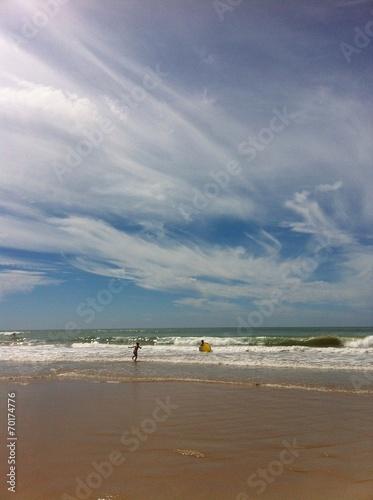 canvas print picture Wolken über dem Atlantik