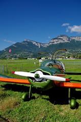 avion en préparation de décollage