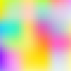 Abstract colorful vector background, pixel art illustration