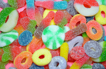 Colorful assorted chewy candy