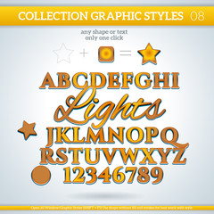 Lights Graphic Styles for Design. use for decor, text, title,