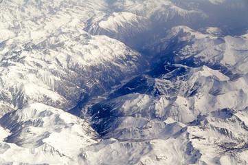 Schlucht in den Alpen