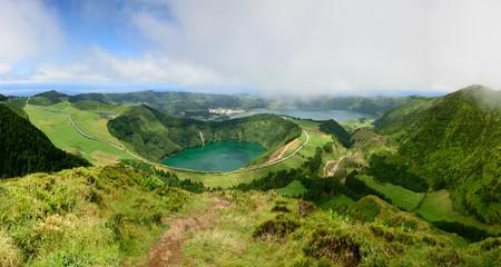 Panoramica com vista para a Lagoa de Santiago