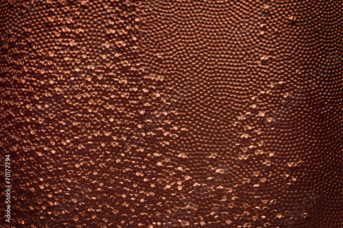 copper color abstract texture background from plastic surface - 70177794