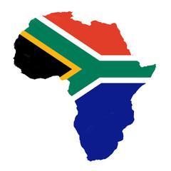 Südafrikas Fahne