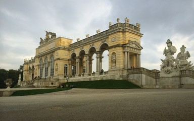 gloriette in schonbrunn park in vienna