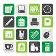 Silhouette Business and office equipment icons