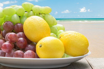 Lime and Grape at the beach