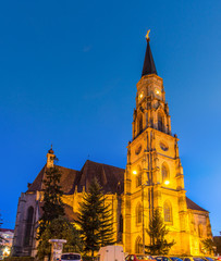 Saint Michael's Roman-Catholic Church in Cluj-Napoca, Romania