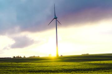 Windmill on a Meadow - Masurian Landscape