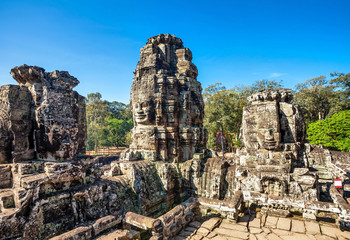 Bayon temple in Angkor Wat complex
