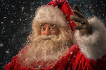 Santa Claus making magic
